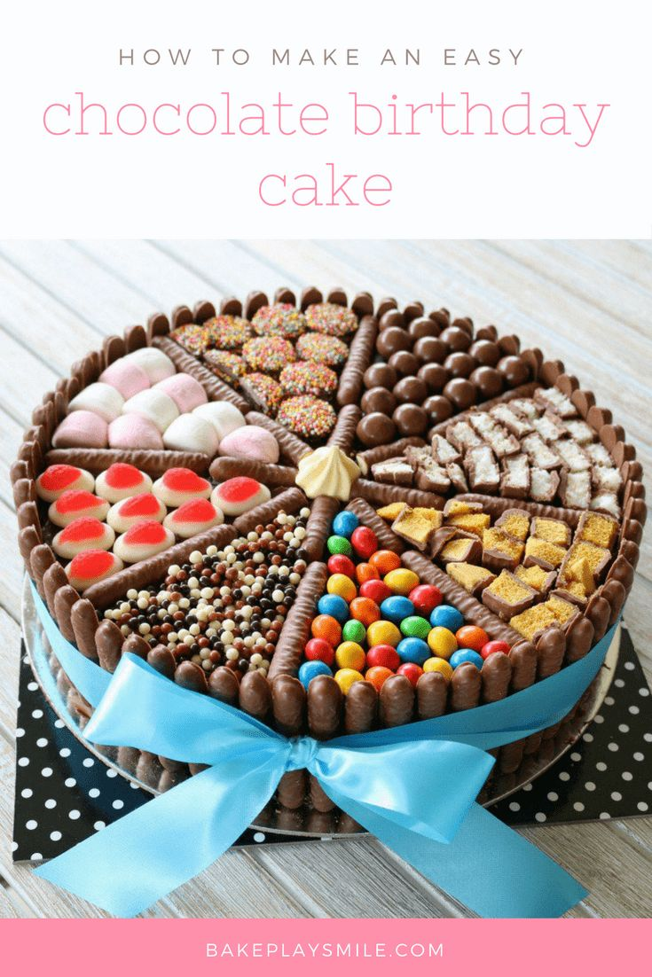 decorating chocolate biscuit wedding cake birthday cake an easy chocolate birthday cake decorated 13405