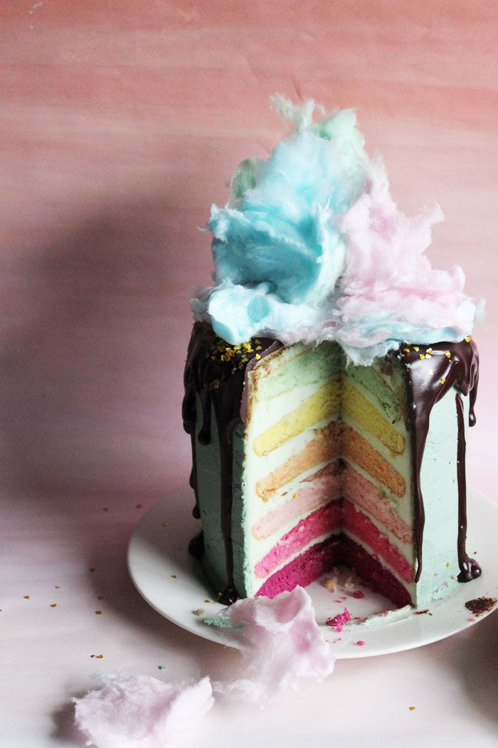 Incredible Birthday Cake Poppytalk One Cake Two Ways Donut Cotton Funny Birthday Cards Online Hendilapandamsfinfo