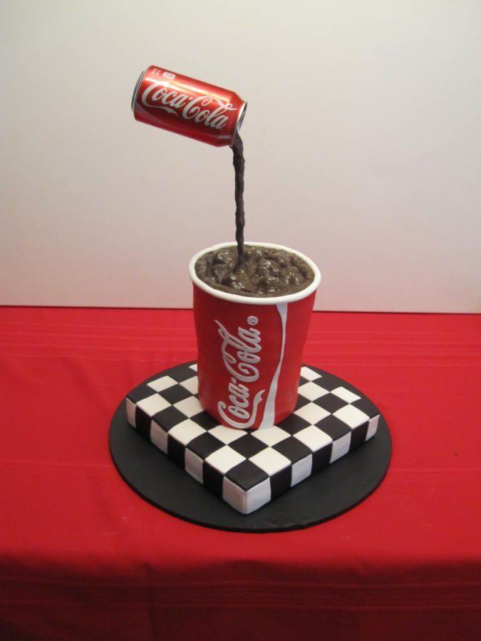 Stupendous Birthday Cake Coke Birthday Cake Cake By Sunrise Cakes Funny Birthday Cards Online Necthendildamsfinfo