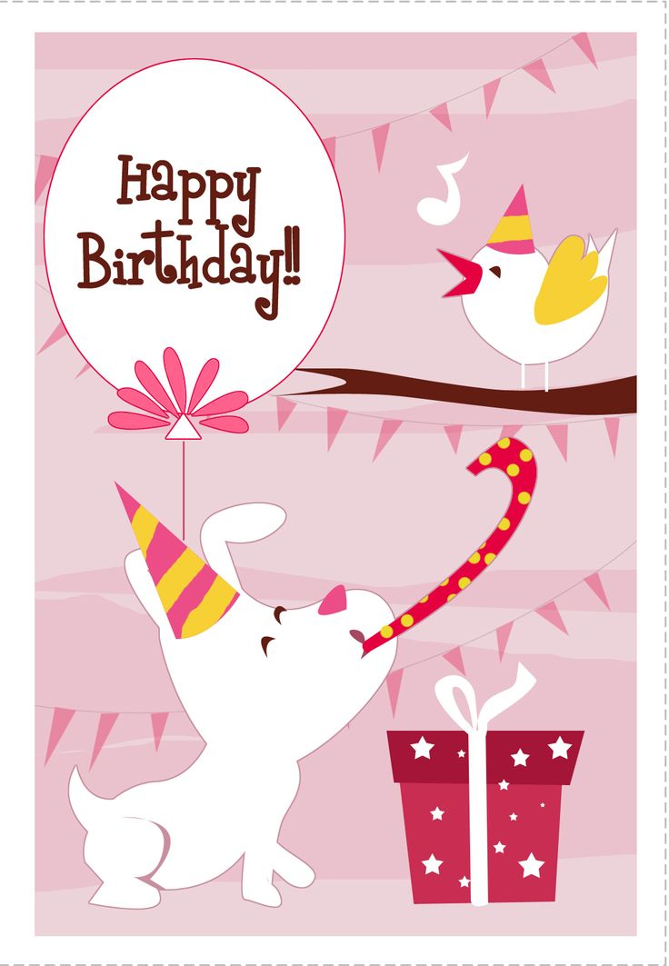 image about Dog Birthday Cards Printable Free identify Birthday Rates : Totally free Printable Canine N Hen Greeting Card