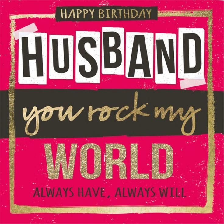 Birthday Quotes Happy Birthday Husband Card