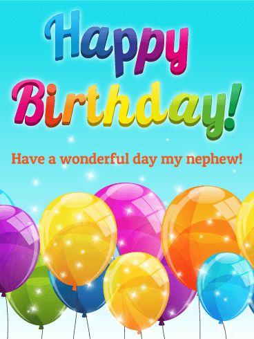 Birthday Quotes Rainbow Happy Card For Nephew Rainbows