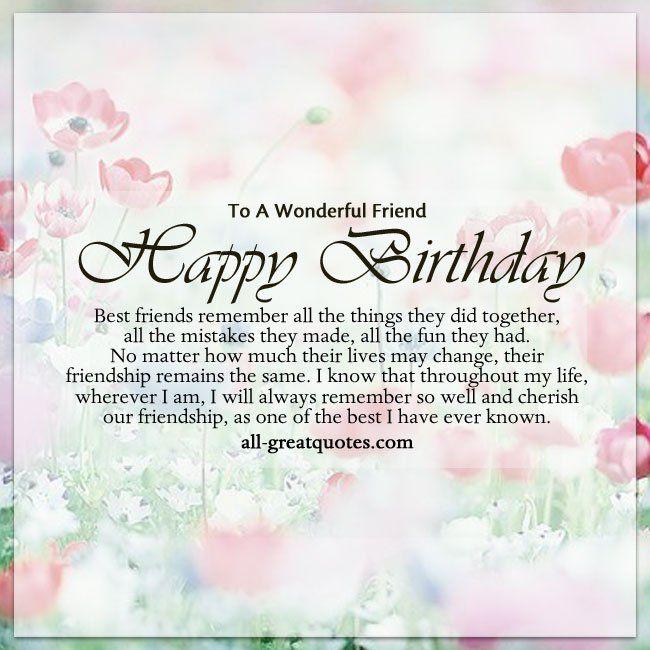 birthday quotes to a wonderful friend happy birthday best