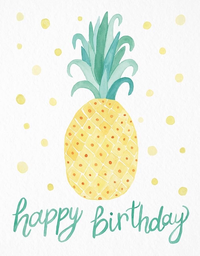 Happy Birthday Wiches : Pineapple card by Leveret Paperie on ...