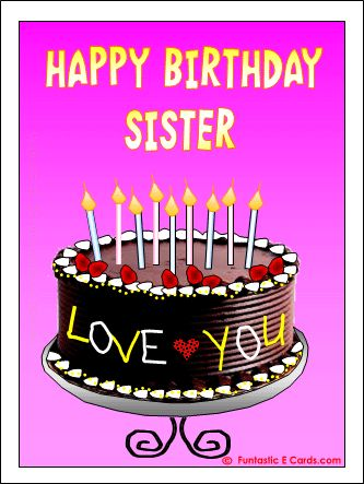 Happy Birthday My Lovely Sister Cake Pic The Blouse