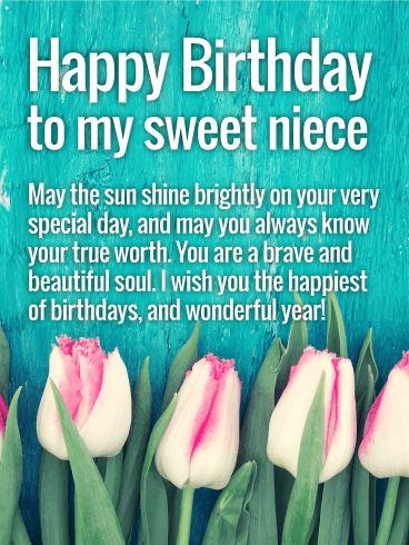 Birthday Quotes Description Wishing You A Wonderful Year Happy Wishes Card For Niece