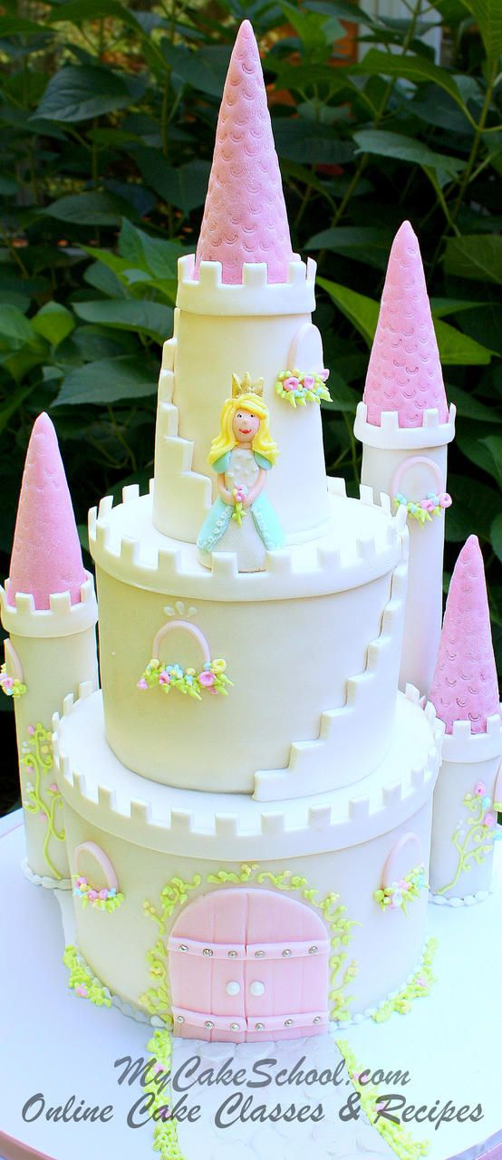 Birthday Cake Gorgeous Castle Decorating Video Tutorial