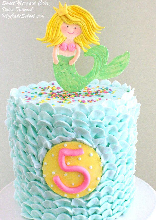 Birthday Cake Sweet Mermaid Cake With Buttercream Waves Video