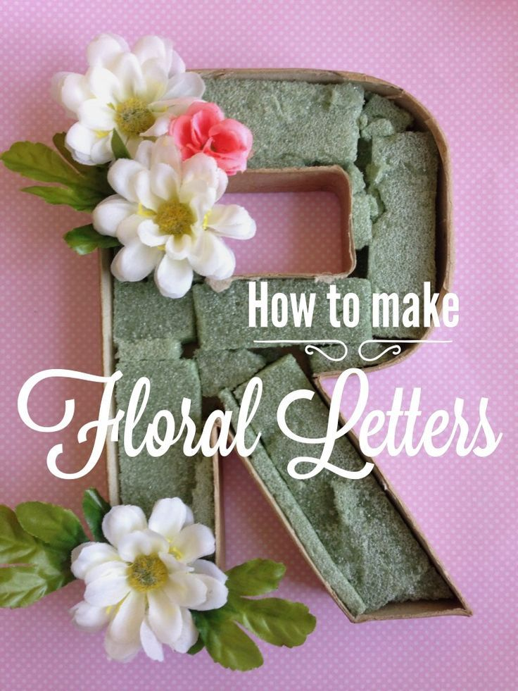 Birthday Decoration How To Make Floral Letters Easy Simple