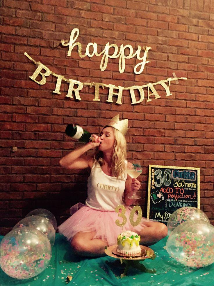 Description 30th Birthday Smash Cake And Booze Photo Shoot