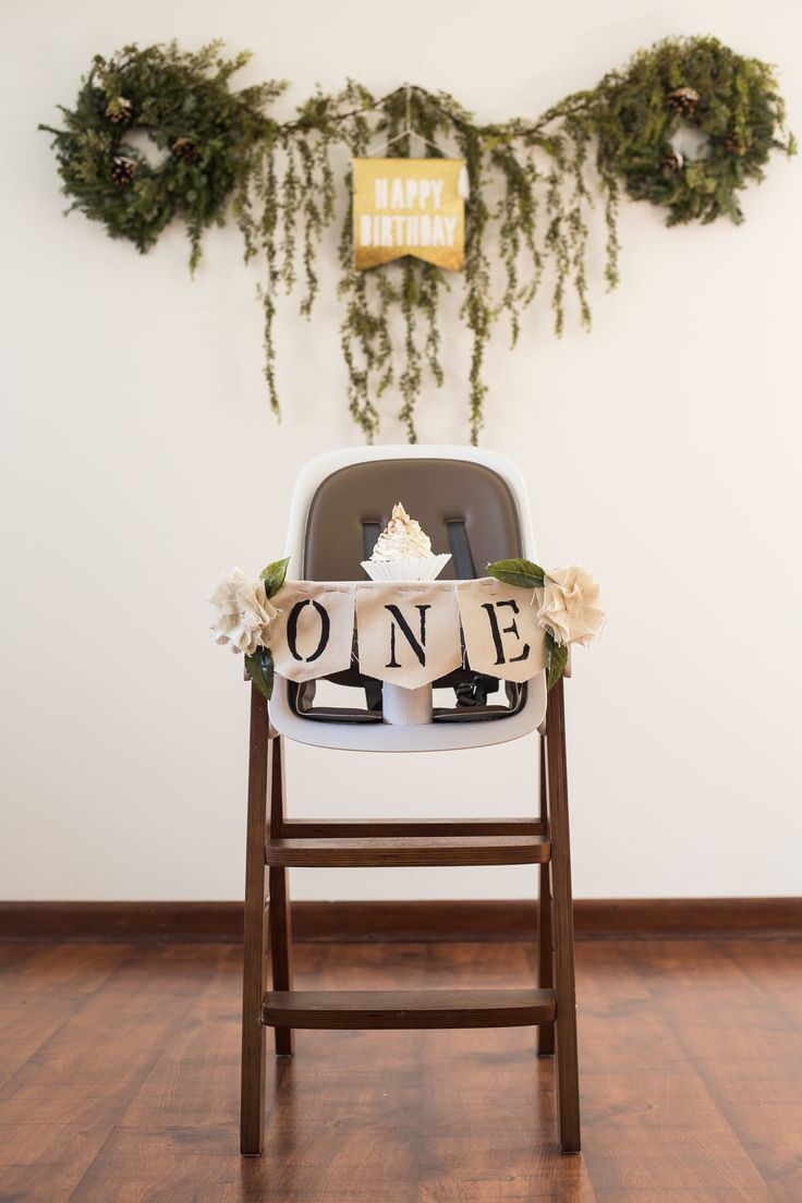 Description First Birthday Party Decor High Chair