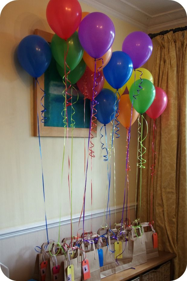 Birthday Decoration Ideas Neat Idea For Decorations And Favor Bags