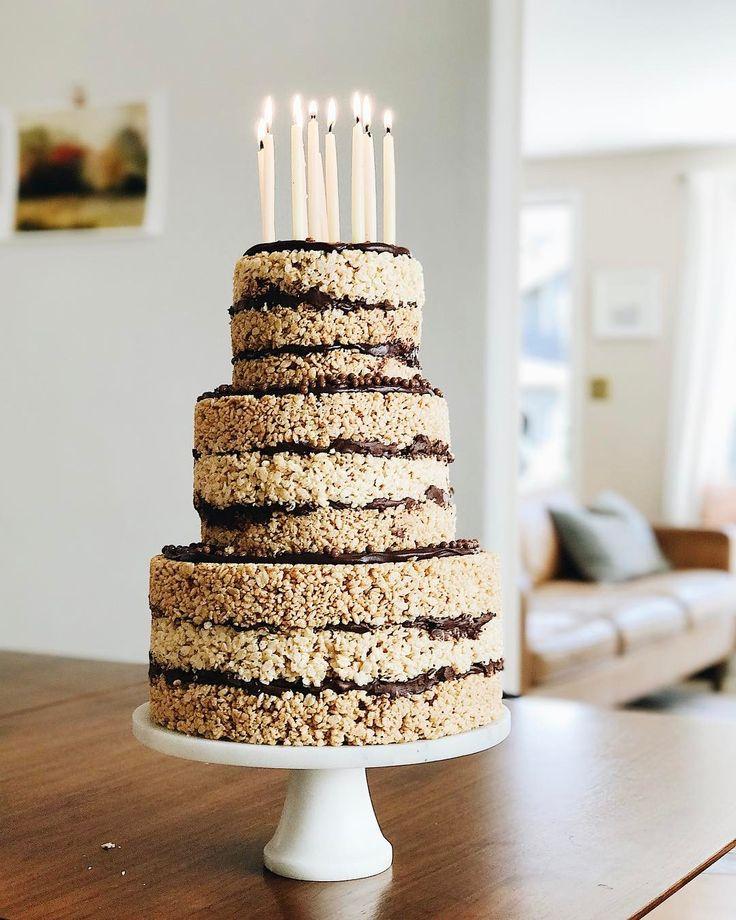 Sensational Birthday Decoration Ideas Peanut Butter Chocolate Rice Krispie Funny Birthday Cards Online Elaedamsfinfo