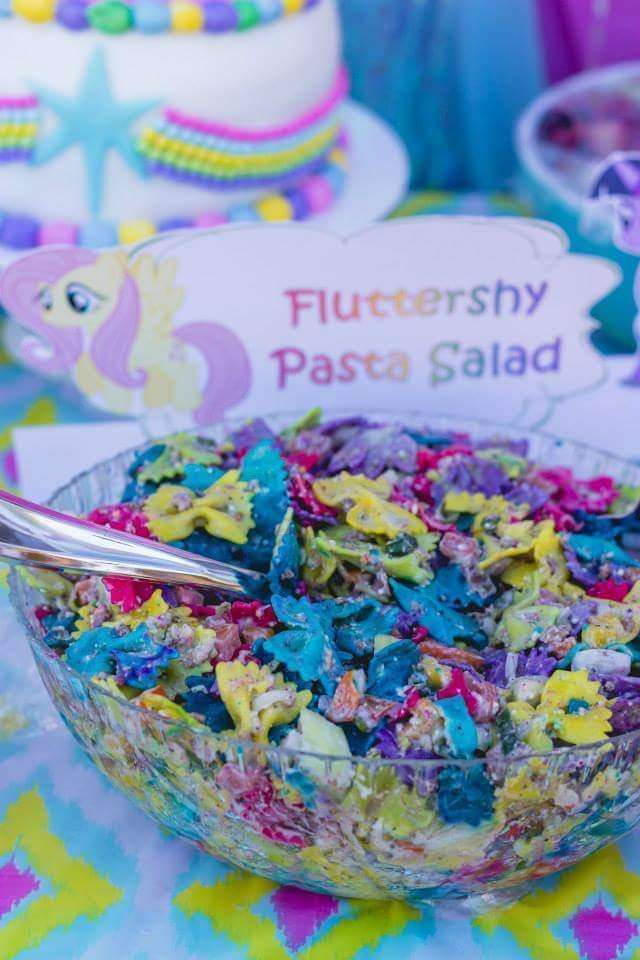 Description Rainbow Pasta Salad At A My Little Pony Birthday Party