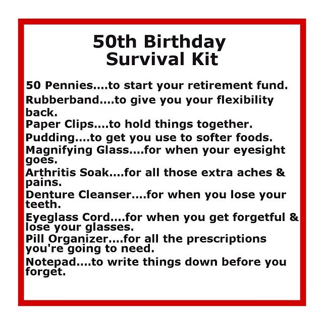 Birthday Decoration Survival Kits With Cute Sayings 50 Th Joke 50th Presents Funny Gift Ideas For