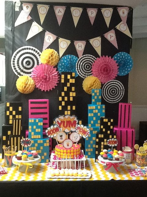 Birthday Decoration Totally Going To Do This Kind Of A PowerPuff Girls Cross With Wonderwoman Supe