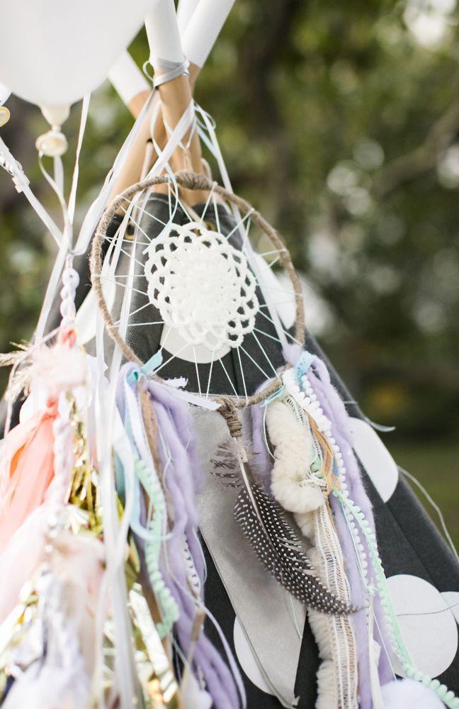 Birthday Decoration Dream Catcher Feathers Pastel C Corinna