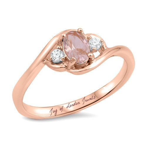 cde3979c13991 Birthday Gifts Ideas : 14K Rose Gold 1.7CT Oval Cut Pink Morganite ...