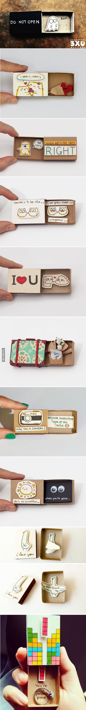 Birthday Gifts Inspiration Artist Creates Little Matchbox Greeting