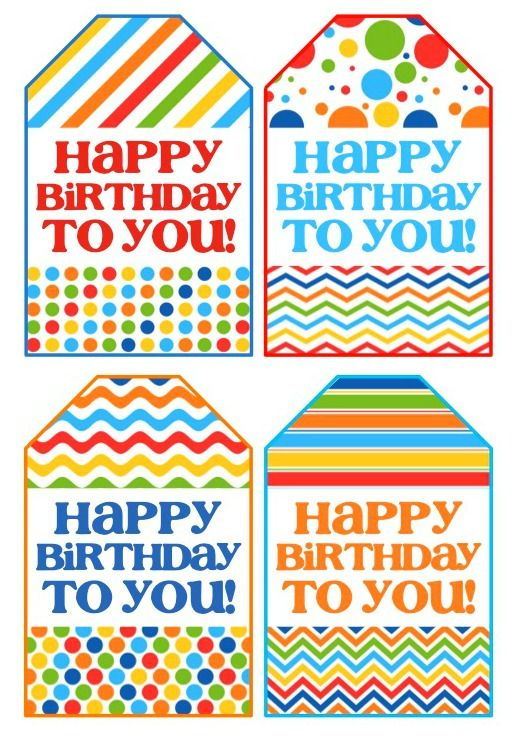 photograph relating to Birthday Tag Printable identified as Birthday Presents Commitment : Birthday Present Tags - Free of charge