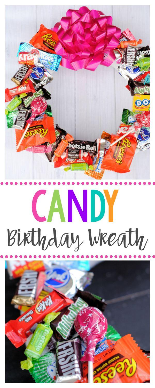 Description Candy Wreath For Birthdays A Fun Birthday Gift