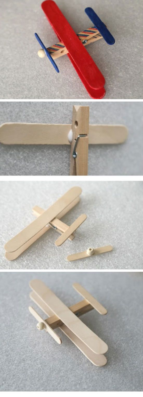 Birthday Gifts Inspiration Craft Stick Airplane