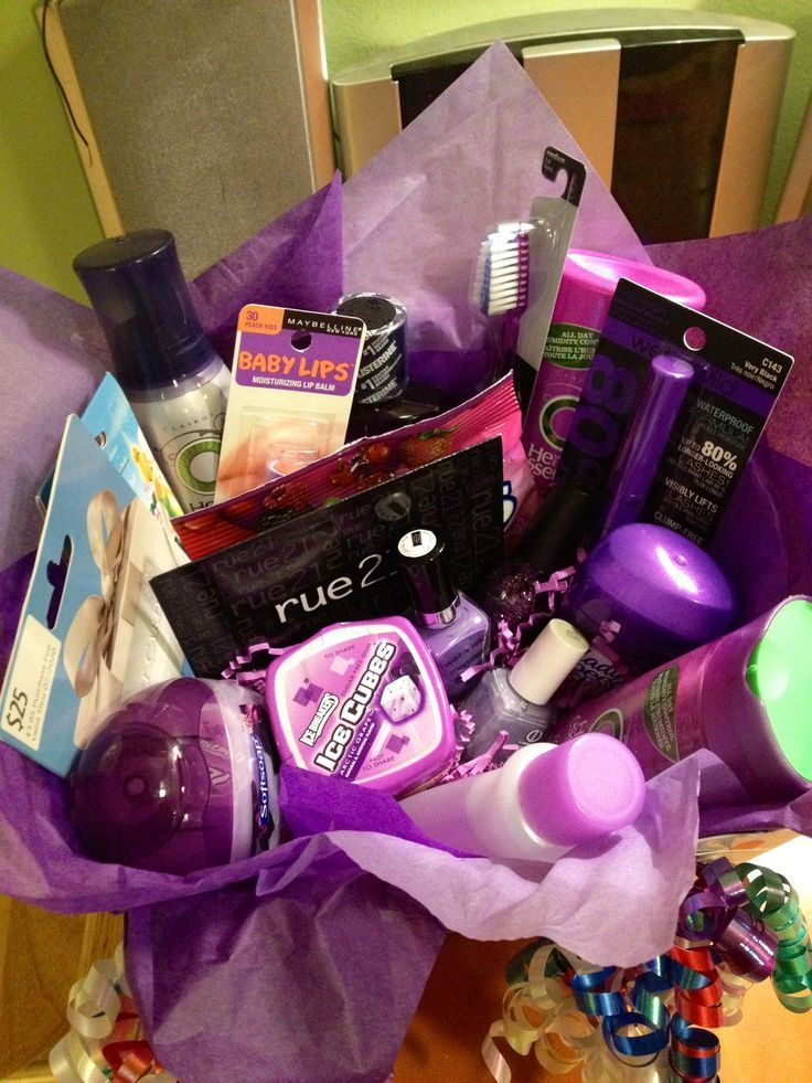 Description Favorite Color Themed Gift Basket For My Best Friends Birthday