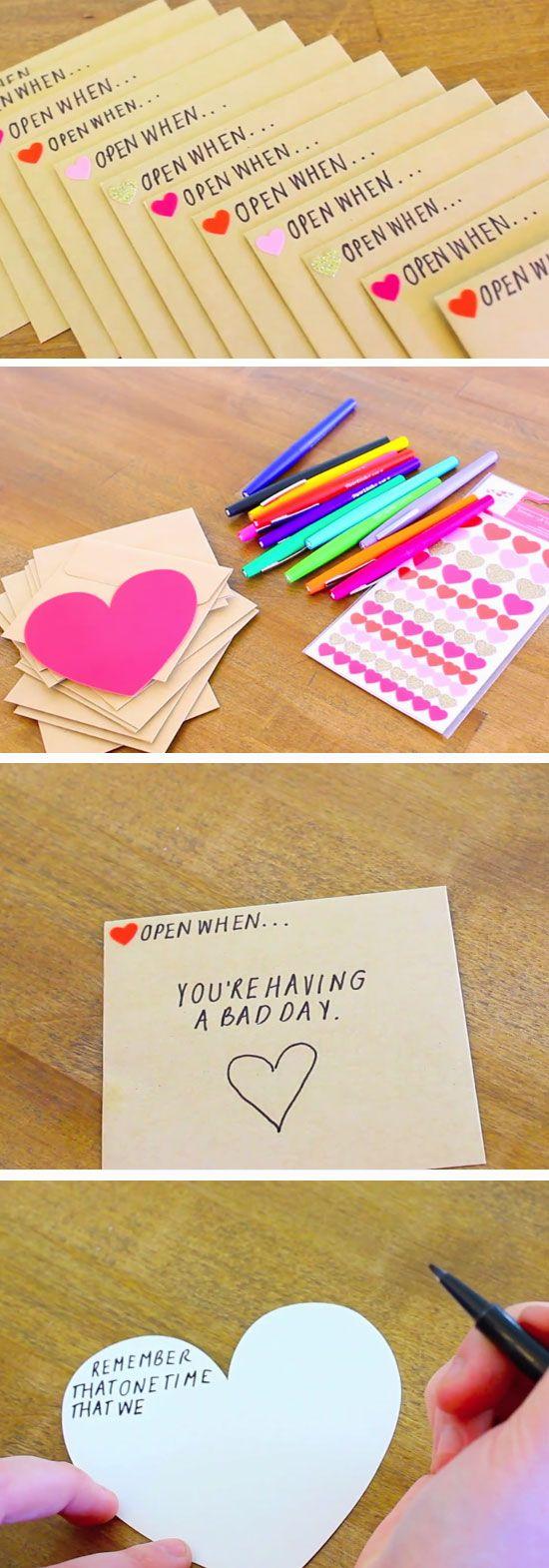 Description Open When Envelopes 23 Diy Valentines Crafts For Boyfriend Birthday Gifts