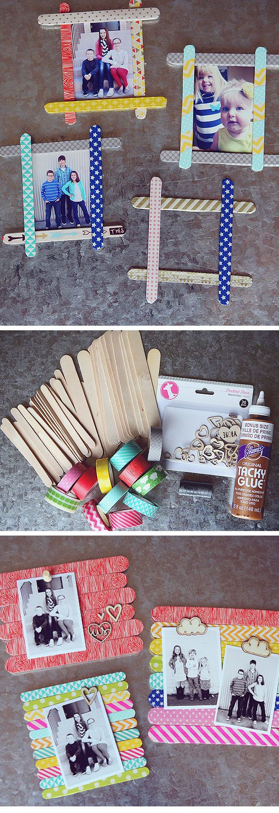 Birthday Gifts Inspiration Popsicle Stick Photo Frames