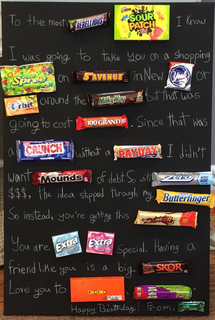 Birthday-Gifts-Inspiration-Teenage-candy-board -White-pencil
