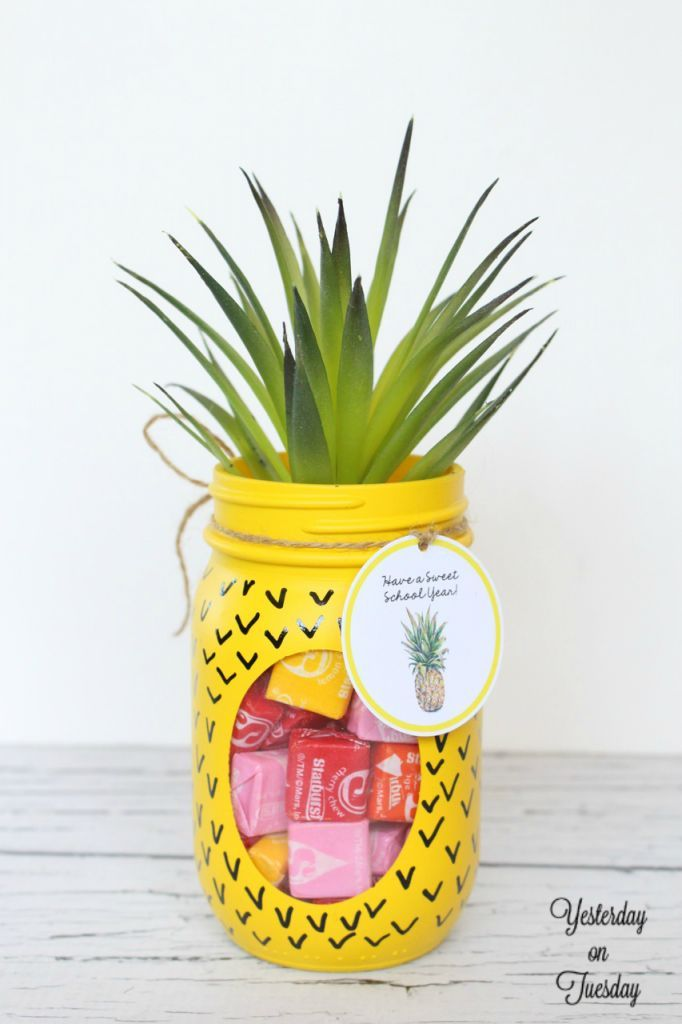 Birthday Gifts Inspiration Transform A Plain Mason Jar Into A Fun Pineapple Candy Jar Plus Free Printable Askbirthday Com You Number One Source For Beautiful Collection Of Best Happy
