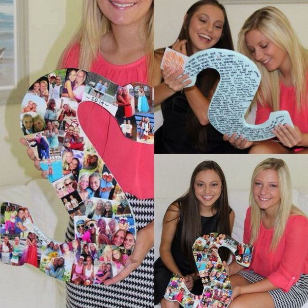 Birthday Gifts Inspiration Wooden Letter Covered In Photos This Good Gift Ideas