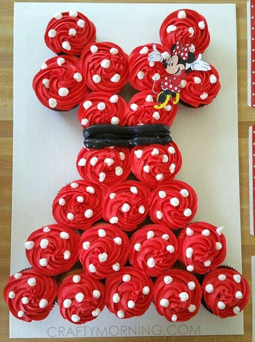 Outstanding Birthday Party 21 Pull Apart Cupcake Cake Ideas Minnie Mouse Funny Birthday Cards Online Barepcheapnameinfo