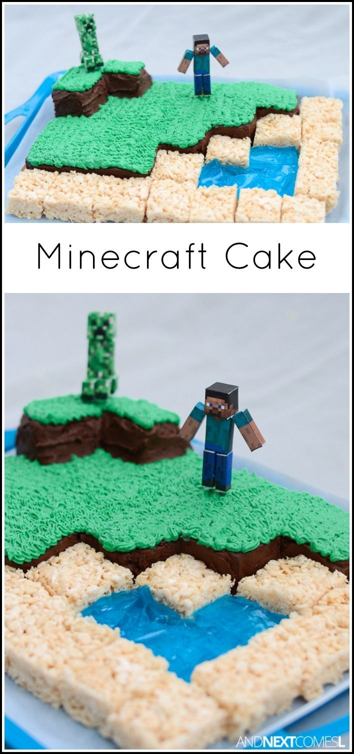 Astounding Birthday Party How To Make A Minecraft Birthday Cake From And Funny Birthday Cards Online Fluifree Goldxyz