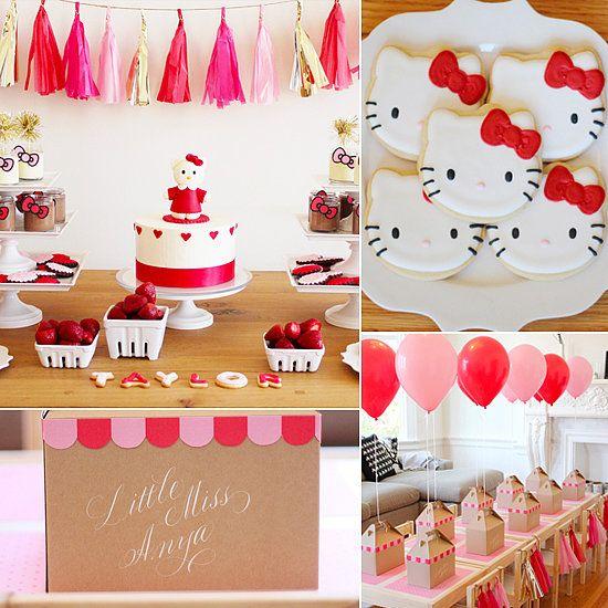 Birthday Party Inspiration Modern Hello Kitty Birthday Party