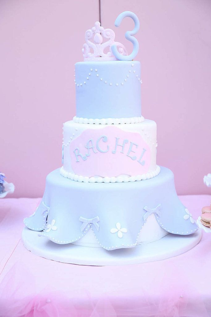 Incredible Birthday Party Inspiration An Extravagant Princess Cake Personalised Birthday Cards Paralily Jamesorg
