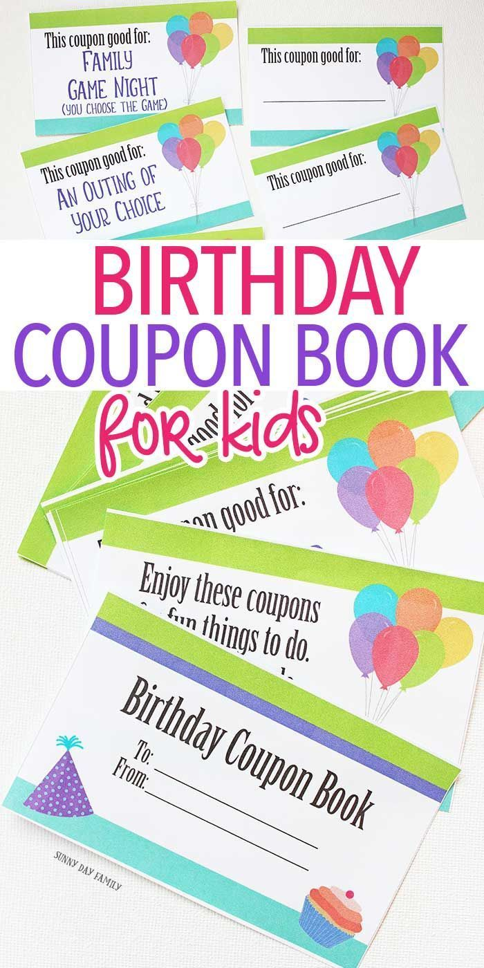 image regarding Printable Birthday Coupons known as Birthday Celebration : Printable birthday coupon reserve for small children