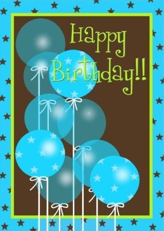 Birthday Quotes : Happy Birthday - balloons - man ...