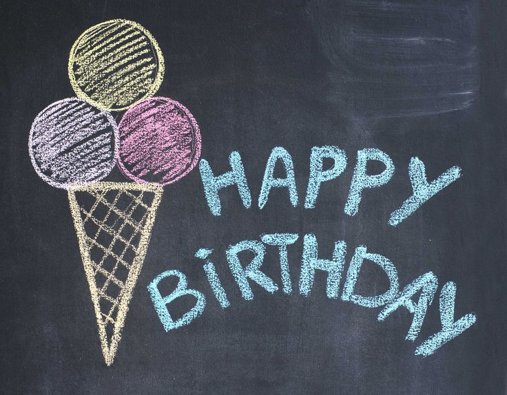 Birthday Quotes Description Happy Chalkboard