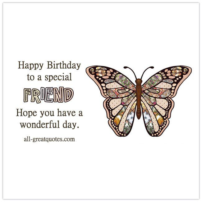 Birthday Quotes Description Happy To A Special Friend