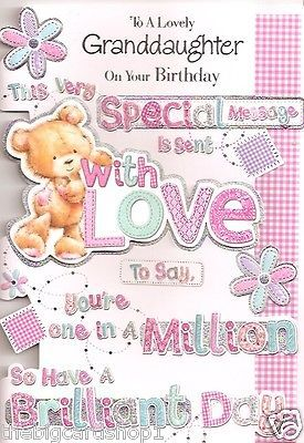 Birthday Quotes Description Happy To A Special Granddaughter Quality Card