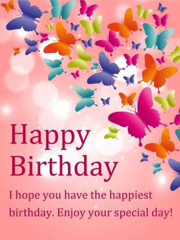 Birthday Quotes Description Send Free Shining Butterfly Happy Card