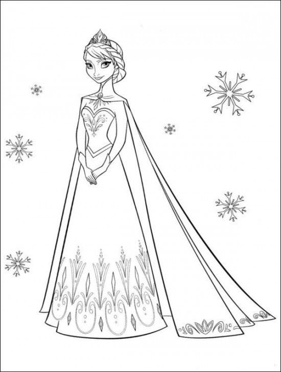Description 35 FREE Disneys Frozen Coloring Pages Printable