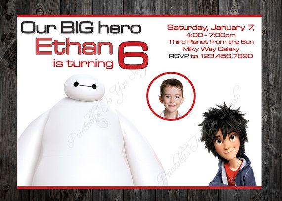 Description Big Hero 6 Birthday Invite Invitation