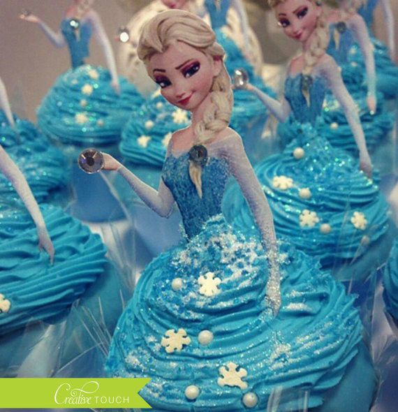 Description Elsa Cupcake Topper