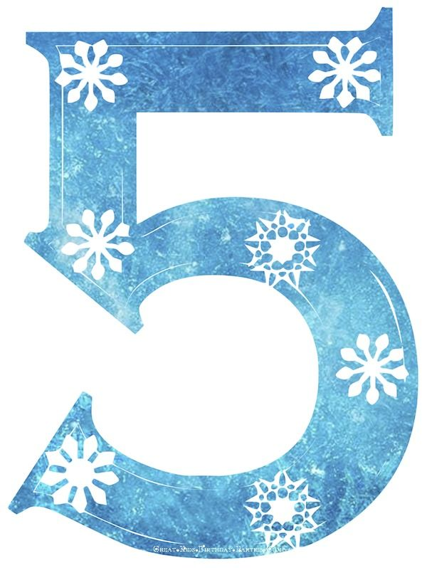 Terrific Birthday Decoration Free Frozen Snowflake Numbers Perfect For Personalised Birthday Cards Paralily Jamesorg