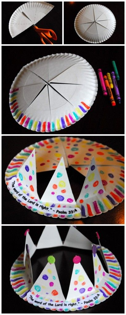 Birthday Decoration Paper Plate Crown Craft