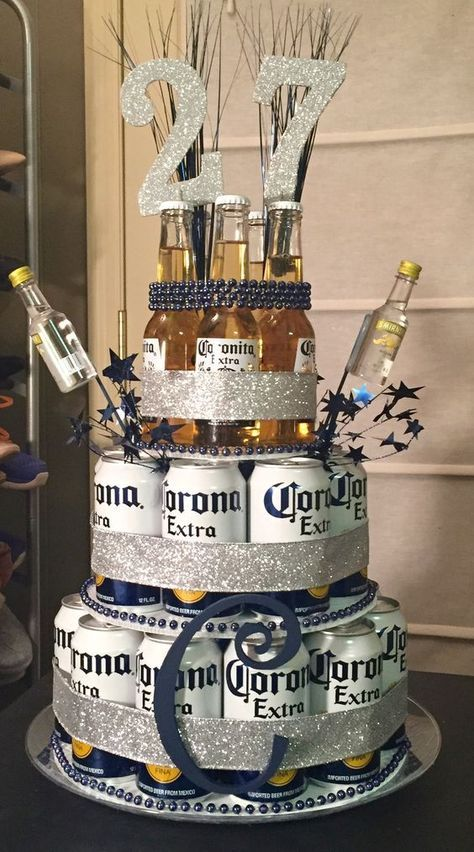 Description Beer Can Cake