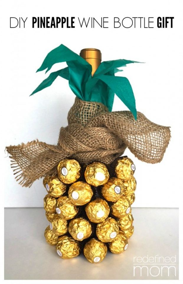 Birthday Gifts Inspiration DIY Pineapple Wine Bottle Gift