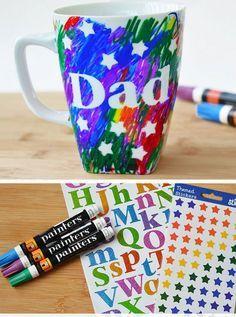 Description Fathers Day Scribble Mug